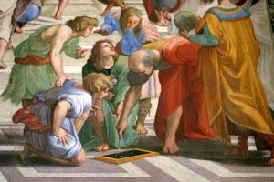 Euclide peint par Raphaël