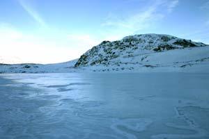 Le lac Fourchu en hiver