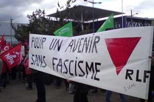 Manifestation contre le venue de Le Penà Grenoble