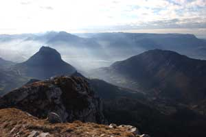 Vue de la vallée depuis la Pinéa