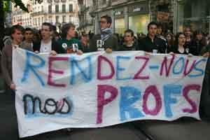 Manifestation lycéenne à grenoble le 29 avril 2008