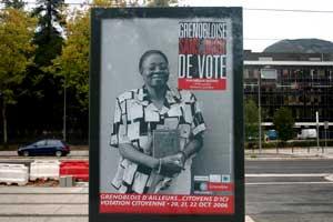 Grenobloise sans droit de vote