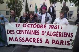 Manifestation à Grenoble en hommage aux morts du 17 octobre 1961