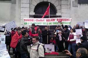 Manifestation en hommage à Chokri Belaid à Grenoble le 9 février 2013