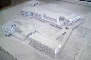 Maquette du futur lycée Mounier