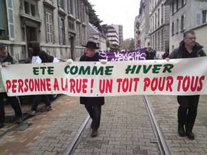 manifestation à Grenoble le 15 novembre 2013